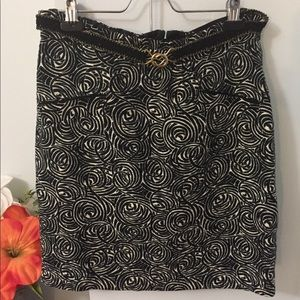 Anthropologie Elevenses Painted Night Skirt 8